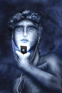 ORIGINAL PAINTING - David's iPod
