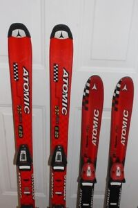 2 Atomic skis 100 120 cm for kids comes with bindings Atomic Rac