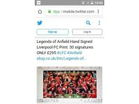 Legends of anfield hand signed print