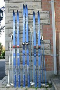Cross country Karhu ski set XC skis waxless 205, 200 cm  190 cm