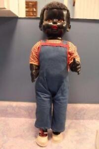 1940s Black Baby Boy Doll by Pedigree England Rare Old Vintage