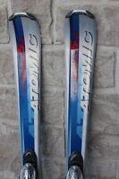 Skis 138 cm (140 nominal) atomic parabolic for adults (not junio