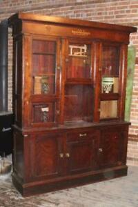 Antique Brunswick Barbers Cabinet