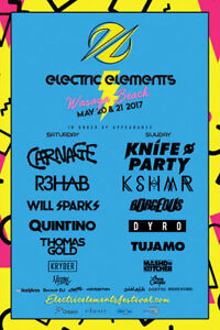 Electric Elements Music Festival Hard Copy Tickets For Both Days