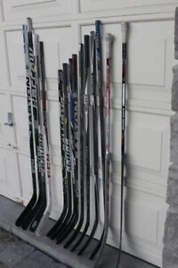 Hockey sticks left and right composite junior and senior sizes