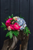 Silk Flowers (Pink, Blue, White) Bouquets and others