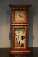 Antique wall clock with key holder