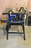 "MASTERCRAFT - 10"" TABLE SAW MOUNTED ON STAND"