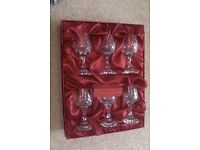 Crystal, set of six port glasses