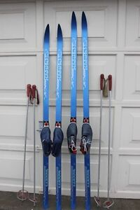Waxless XC cross country skis ski set w/ SNS bindings Karhu 190