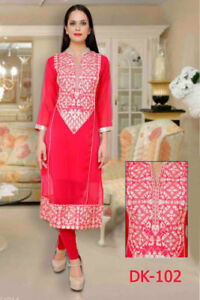 LONG KURTI PINK WITH SILVER. STITCHED. BRAND NEW DESIGN FOR SALE
