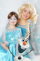 Princess Elsa ( Frozen ) face painting for a Birthday Party