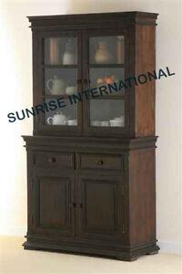 Contemporary Design Wooden Glass Cabinet Kitchen Crockery Unit Ebay