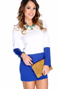 NEW WITH TAGS MINI TWO TONE DRESS MED