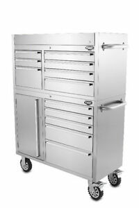 STAINLESS STEEL TOOL CABINETS PROFESSIONAL DRAWERS, TROLLY NEW!