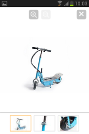 250w SKY BLUE ELECTRIC SCOOTER