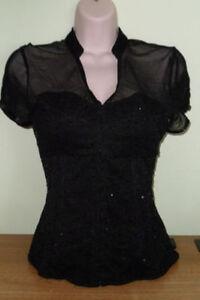 T-shirt corset noir small
