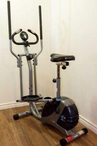 *Vélo stationnaire elliptique 2 dans 1, marque PT Fitness,
