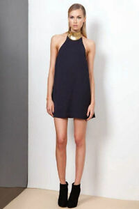 FINDERS KEEPERS MODERN MYTH MINI DRESS - DARK NAVY GOLD. SOLD OU