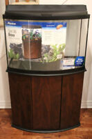 Brand New 36 Gallon Bow Front Tank with Stand
