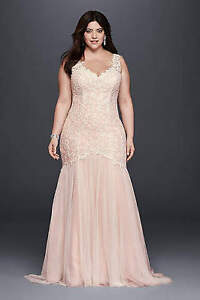 Blush Wedding Dress - Never worn