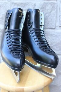 Risport Laser leather Figure skates made in Italy men's size 11
