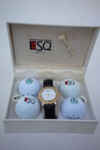 Esquire 300231A Golf themed dress watch gift set