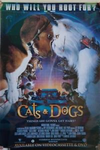 CATS AND DOGS  THE MOTION PICTURE OFF. RELEASE POSTER