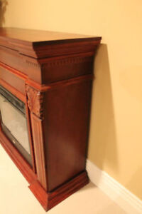 Reduced price: Coleman Fireplace Mantle & Insert