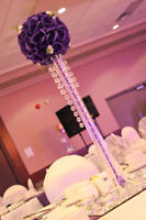 "Center pieces for rental with 12""square mirrors"