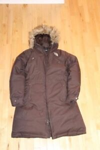 Manteau hiver femme North Face brun taille L comme neuf