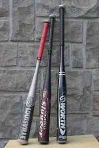 3 junior softball bat aluminum bats worth Louisville sluggerFr