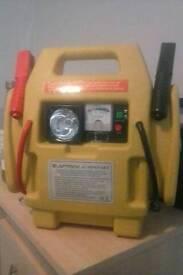 12V jump starter, work light, cigarette outlet and compressor