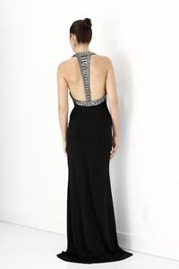 Long Sexy Black Formal Prom Evening Gown NEW Dress Small Medium
