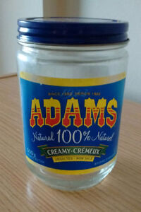 Glass Jar Collection: 149pc, 500g Adams Peanut Butter Jars