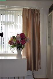 Chenge your decor for Christmas. Beautiful lined satin style curtains