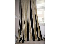 """1 pair of sumptuous, handmade by design, floor length curtains; lined (35"""" W X 90"""" L"""