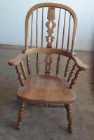 """Set De 4 Chaises en Bois """"Windsor-Georgian"""" Wood Arm Chairs"""