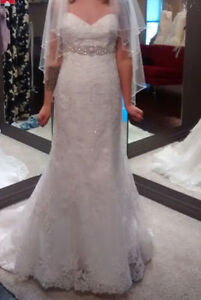 Wedding dress never worn with tags