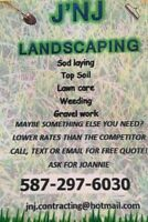 J n J Contracting (lawns, trees, pathways, gardens, etc)