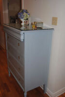 CANADIAN HARDWOOD ANTIQUE DRESSER RERESHED BY PANACHE