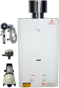 Eccotemp L10 Tankless Water Heater Bundle w/ 12V pump, strainer