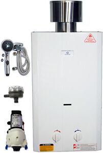 Eccotemp L10 Tankless Water Heater Bundle (w/ 12V pump, strainer
