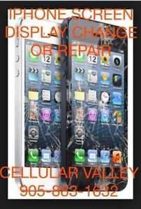 IPHONE 4/4s/5/5C/5S/6/6+ REPAIR  905-883-1632 AURORA