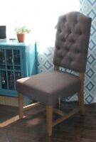 NEW Brown Upholstered Executive Dining / Side Chairs