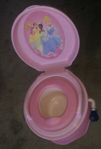 Disney Princesses potty with flushing sounds $8, other potty $ 4