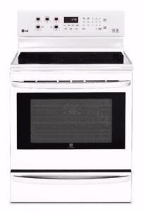 Cuisinière de 6,3 pi³ grill infrarouge Blanche LG ( LRE6385SW )