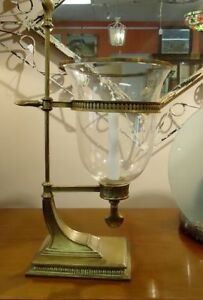 PAIR OF GRAND HURRICANE LAMPS, CANDLESTICKS West Island Greater Montréal image 2