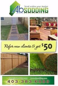SOD - Fence - Deck Call now Free quote - referral fee $50