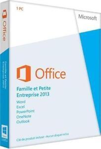 Microsoft Office Famille et Entreprise 2013